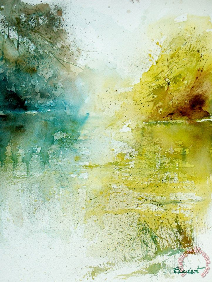 Watercolor 24465 painting - Pol Ledent Watercolor 24465 Art Print
