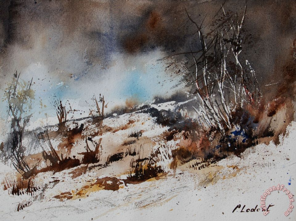 Watercolor Jjook painting - Pol Ledent Watercolor Jjook Art Print