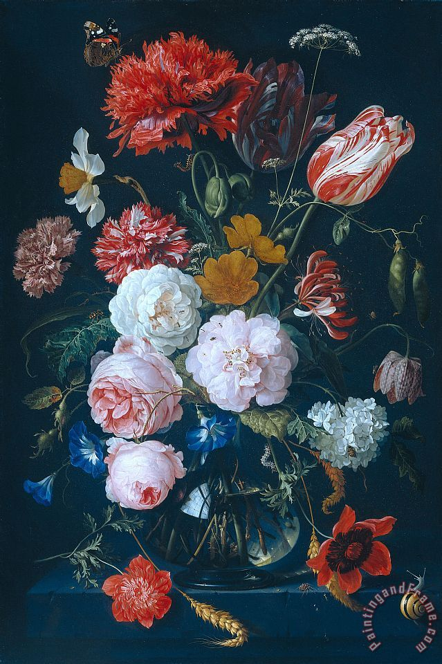Rachel Ruysch Still Life With Flowers On A Marble Tabletop