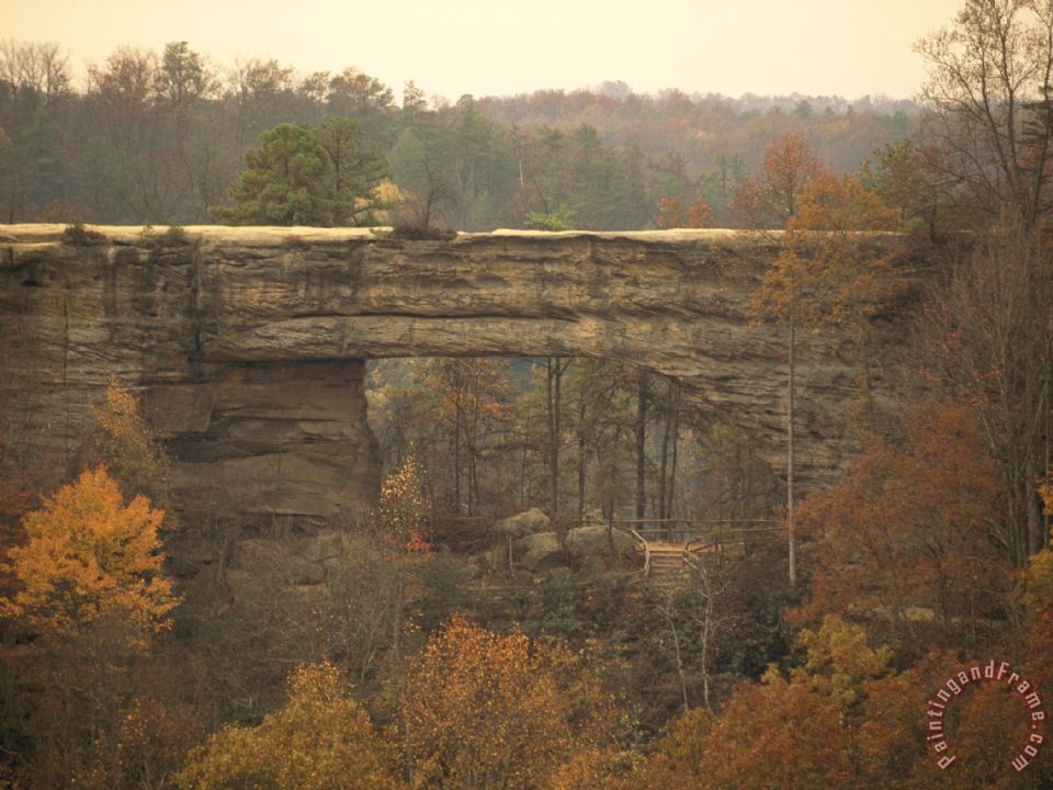 Natural 180 Foot Long 65 Foot High Sandstone Arch painting - Raymond Gehman Natural 180 Foot Long 65 Foot High Sandstone Arch Art Print