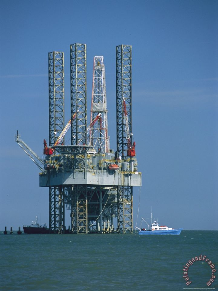 Oil Rig Canvas Paintings
