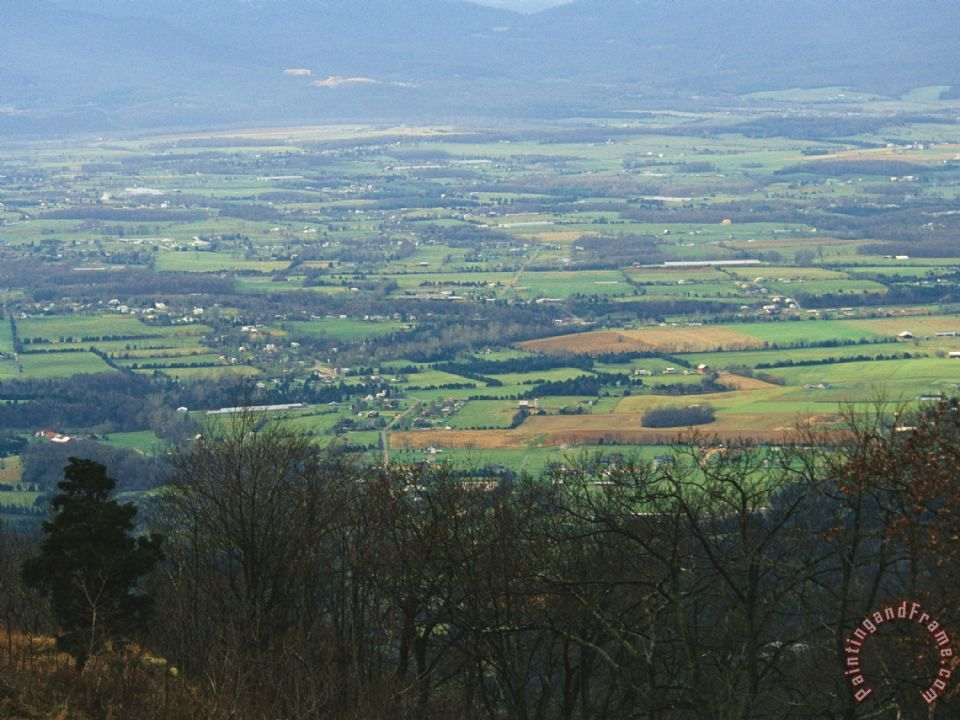 Raymond Gehman View Of Stanley And Shenandoah Valley From The Skyline Drive Painting View Of