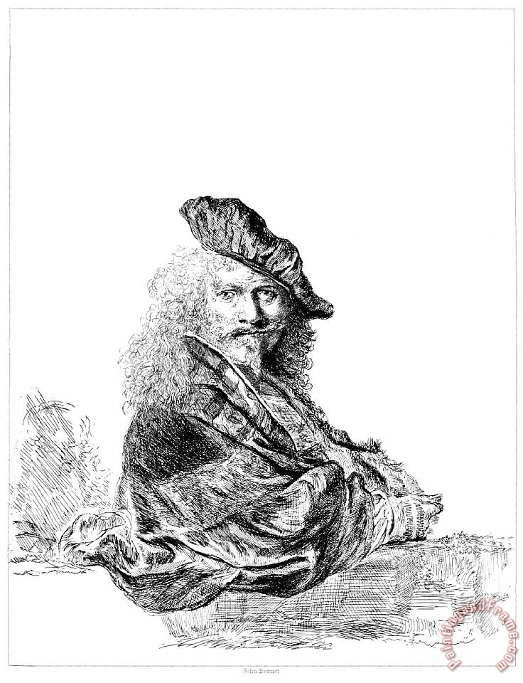 Rembrandt Rembrandt Self Portrait Etching Art Print