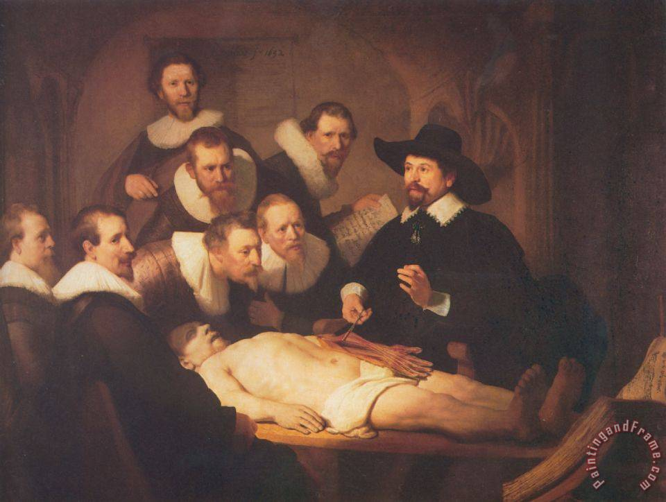 The Anatomy Lecture of Dr. Nicholaes Tulp painting - Rembrandt The Anatomy Lecture of Dr. Nicholaes Tulp Art Print