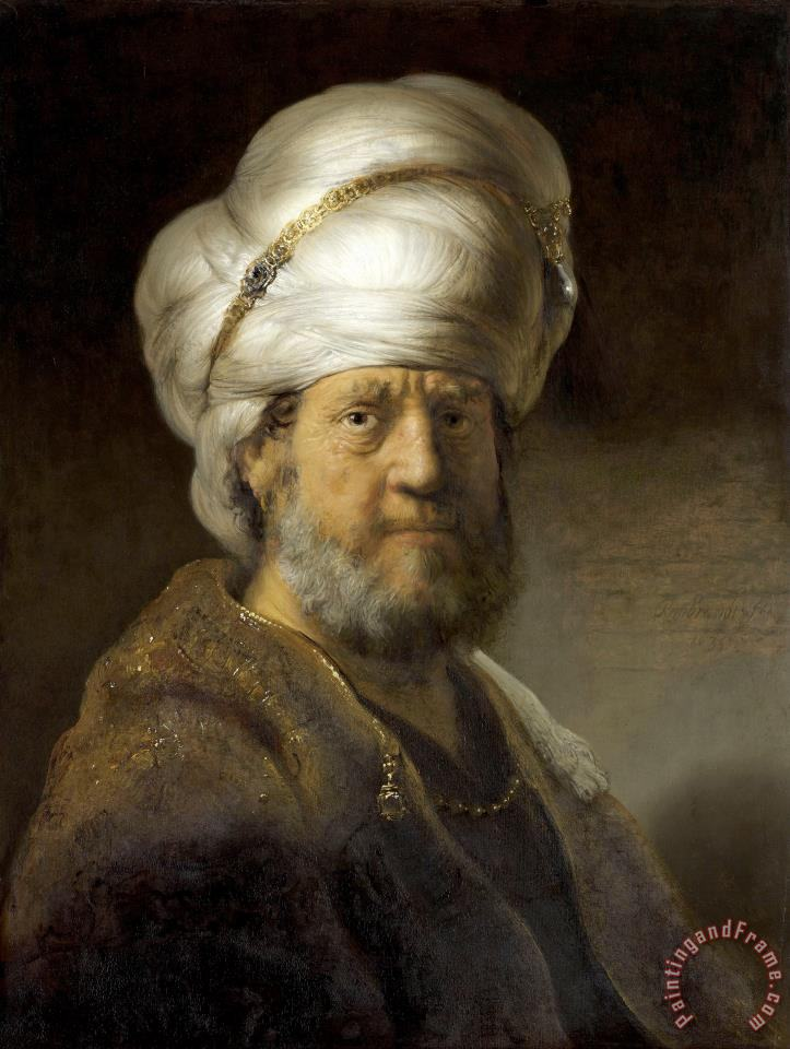 Man in Oriental Dress painting - Rembrandt Harmensz van Rijn Man in Oriental Dress Art Print