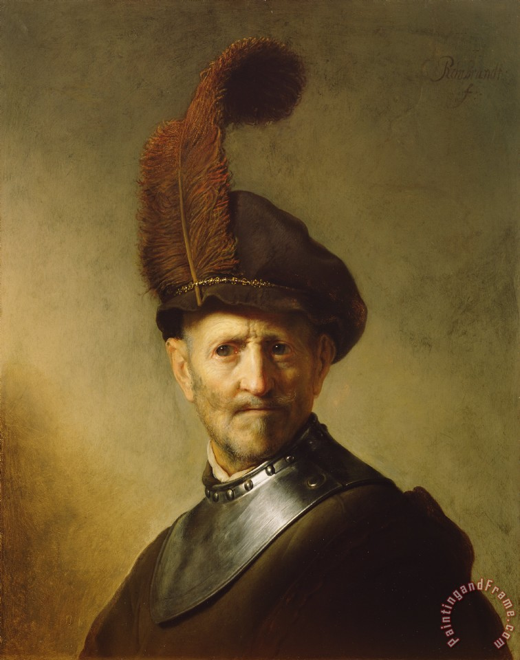 Rembrandt van Rijn An Old Man In Military Costume Art Print