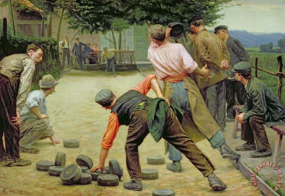 Remy Cogghe A Game of Bourles in Flanders Art Print