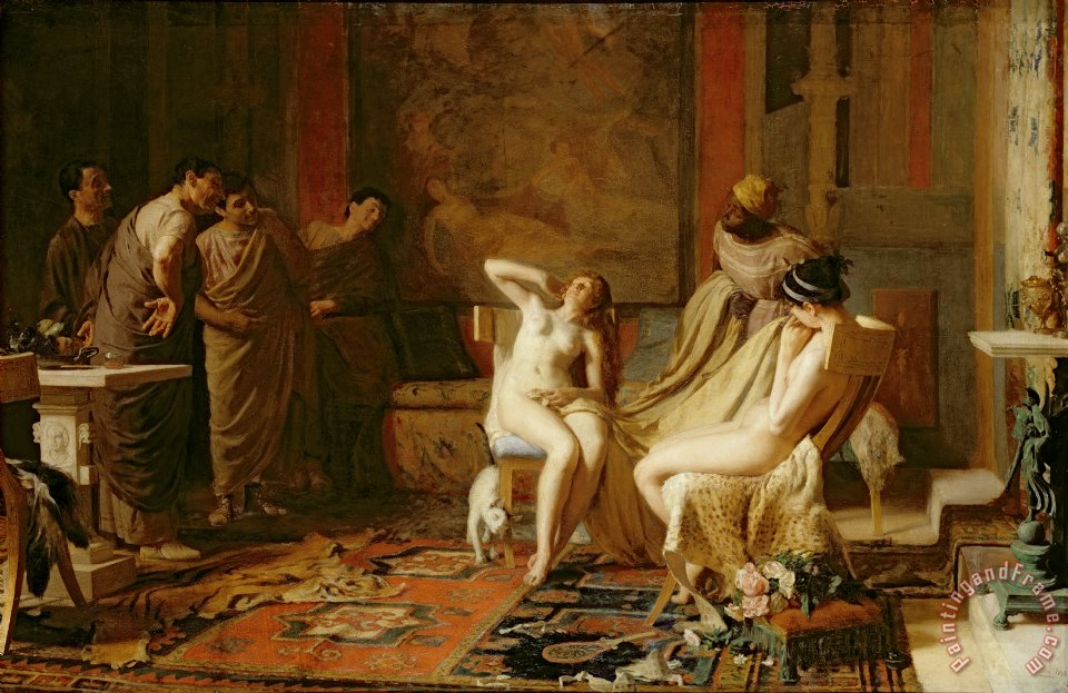 Female Slaves Presented to Octavian painting - Remy Cogghe Female Slaves Presented to Octavian Art Print