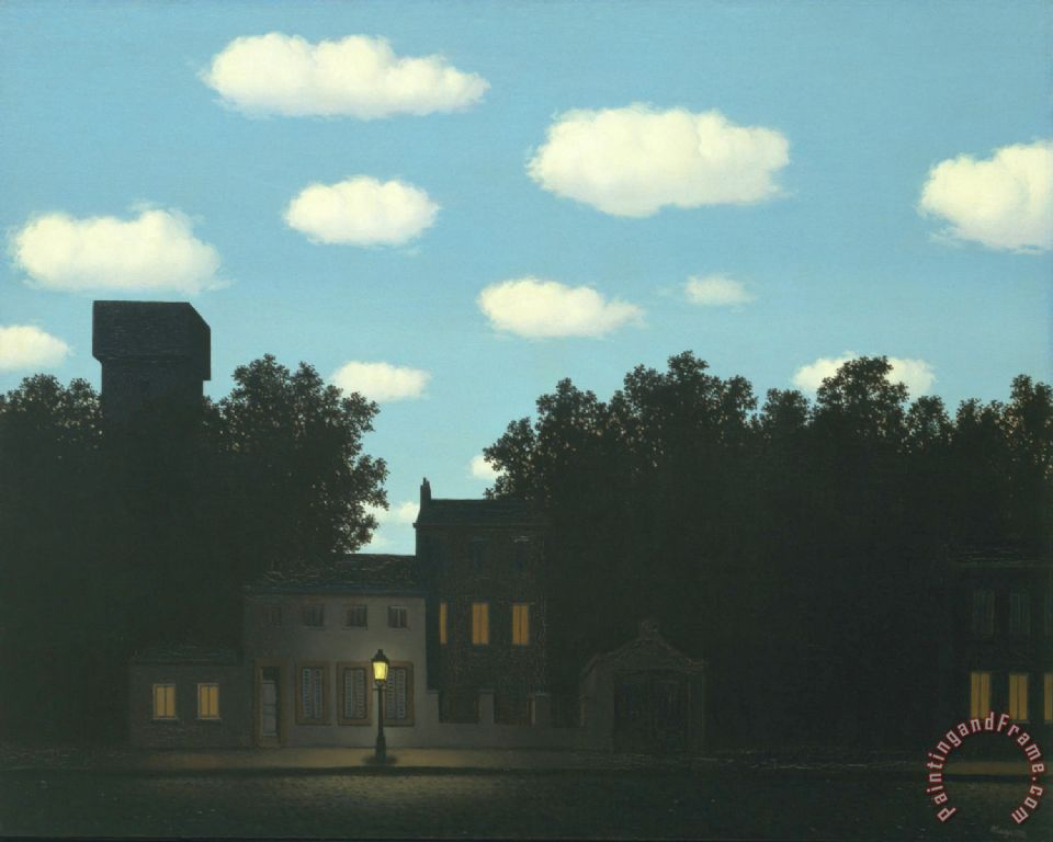 Empire of Light II 1950 painting - rene magritte Empire of Light II 1950 Art Print