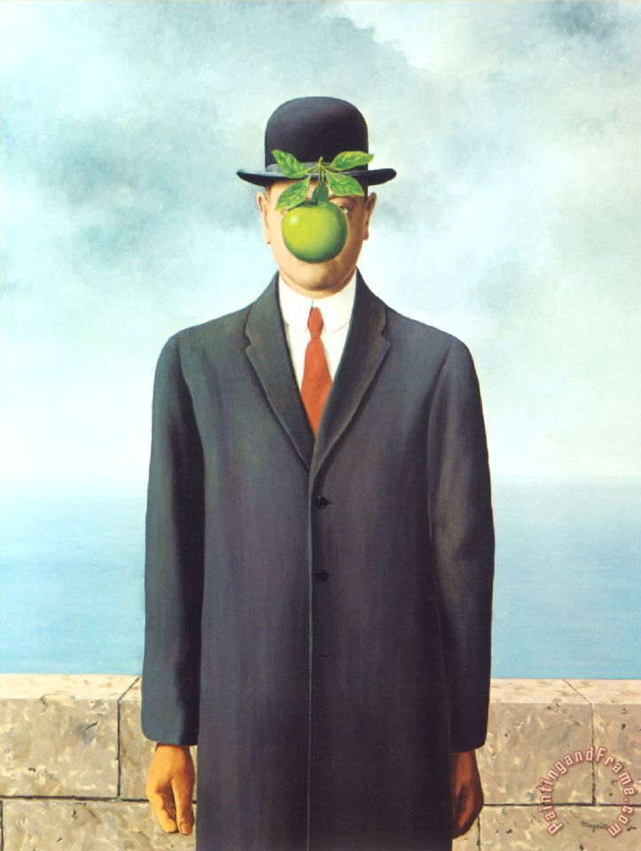 Son of Man 1964 painting - rene magritte Son of Man 1964 Art Print
