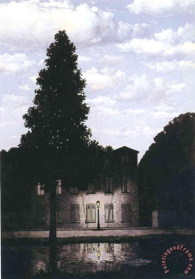 rene magritte The Empire of Lights 1954 Art Painting