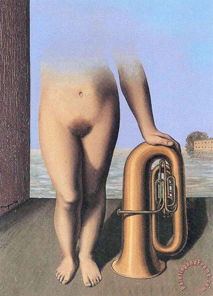 The Flood 1928 painting - rene magritte The Flood 1928 Art Print