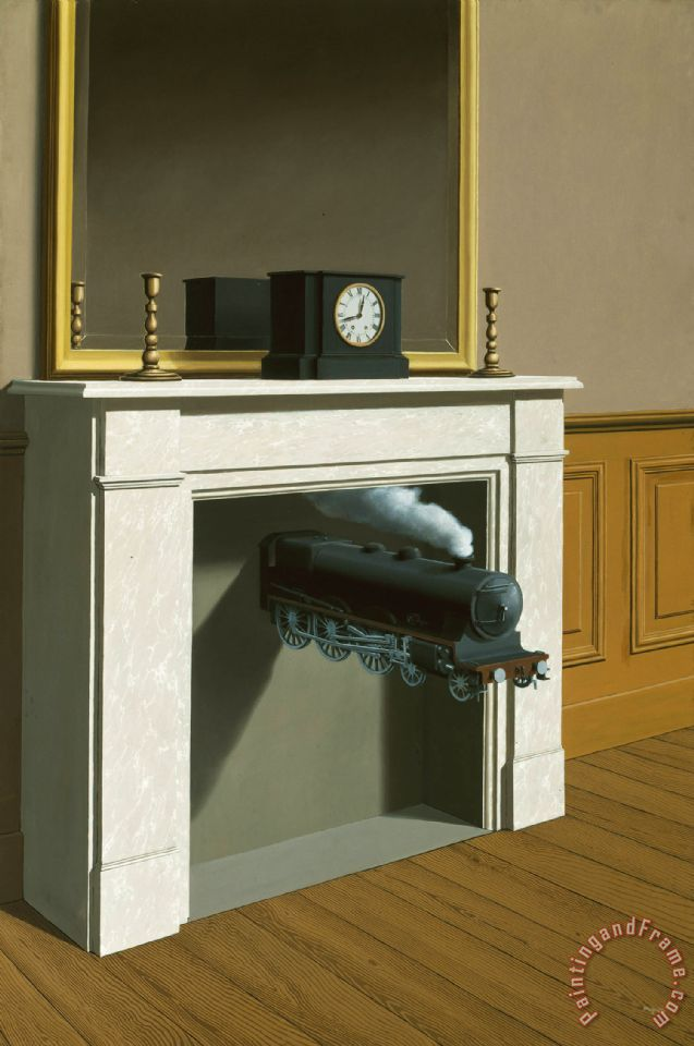 Time Transfixed 1938 painting - rene magritte Time Transfixed 1938 Art Print