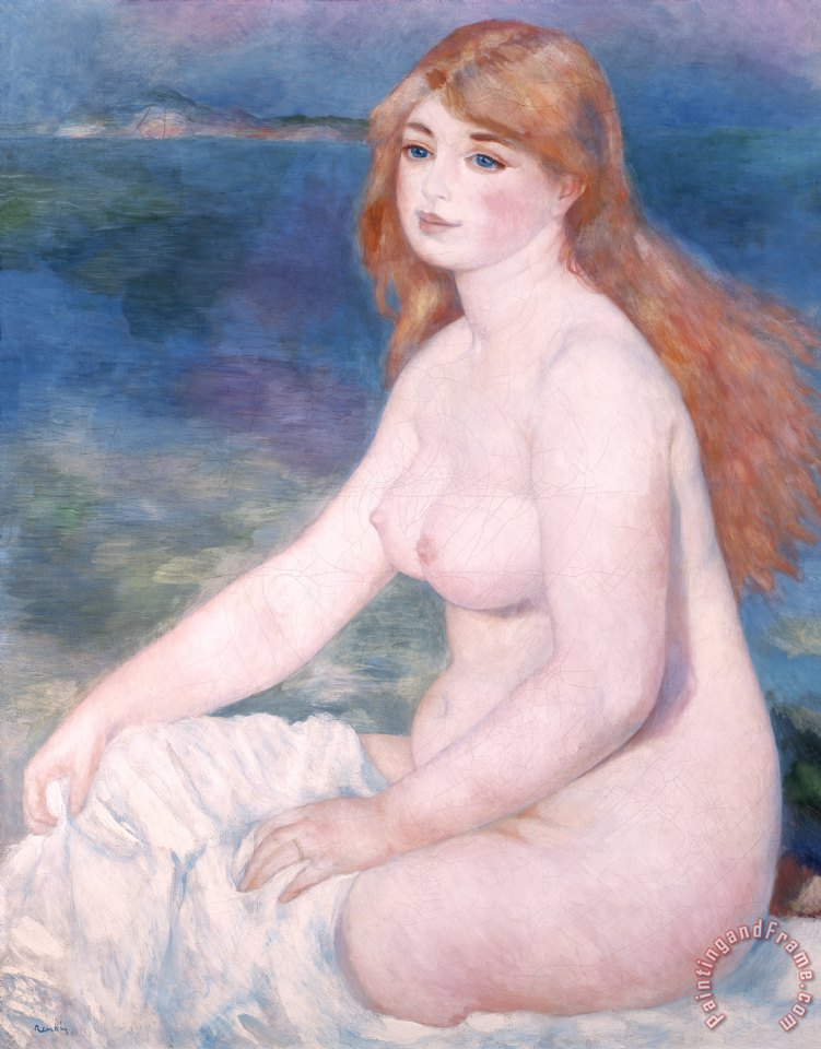 Blonde Bather II painting - Renoir Blonde Bather II Art Print