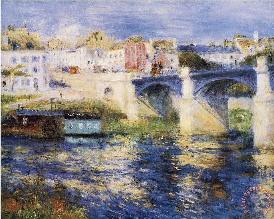 Renoir Bridge Over River painting