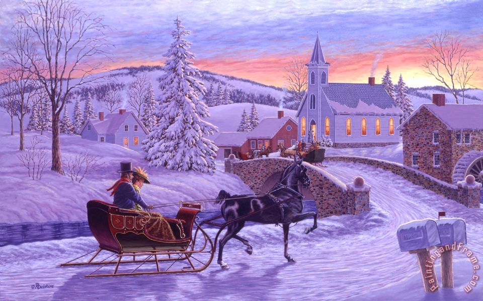 Richard De Wolfe An Old Fashioned Christmas Art Print