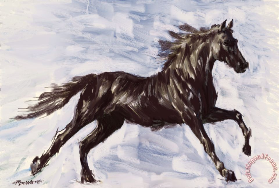 Richard De Wolfe Running Horse Art Print