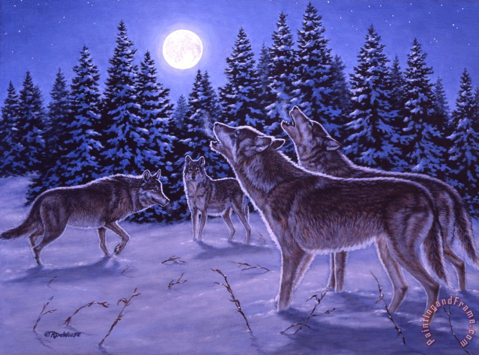 The Howling painting - Richard De Wolfe The Howling Art Print