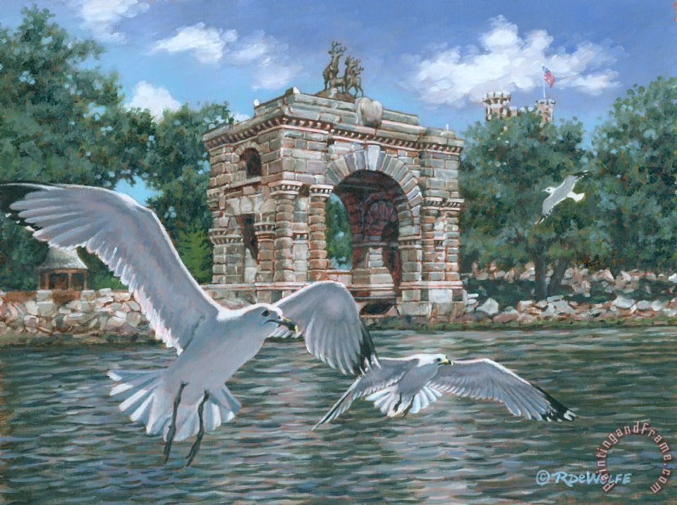 Richard De Wolfe The Stone Arch Art Painting