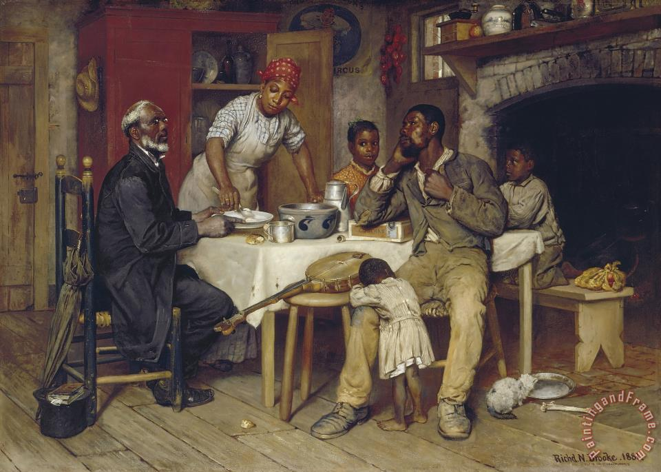 Richard Norris Brooke A Pastoral Visit Art Painting