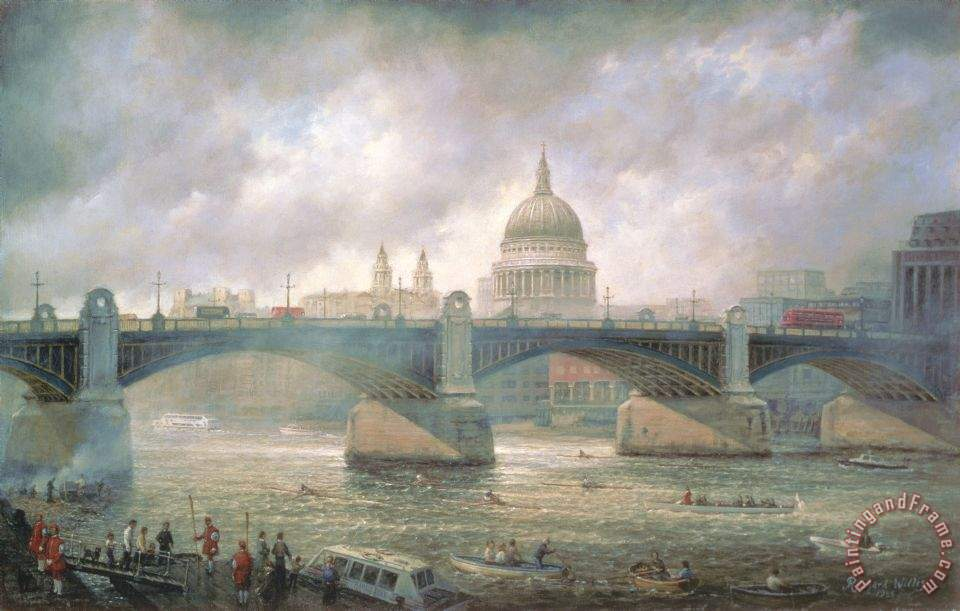 Richard Willis St. Paul's Cathedral From The Southwark Bank Art Painting