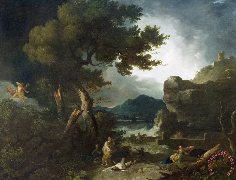 Richard Wilson The Destruction of Niobe's Children Art Print