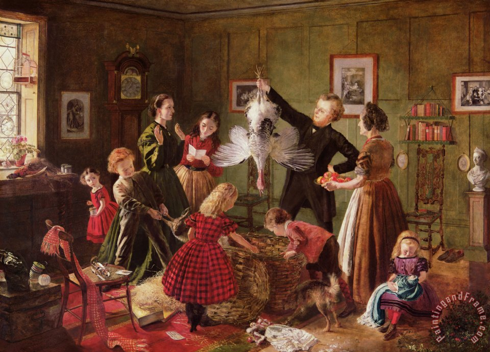 The Christmas Hamper painting - Robert Braithwaite Martineau The Christmas Hamper Art Print