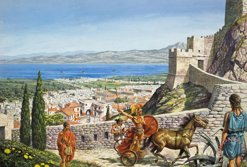 Roger Payne Ancient Corinth Art Painting