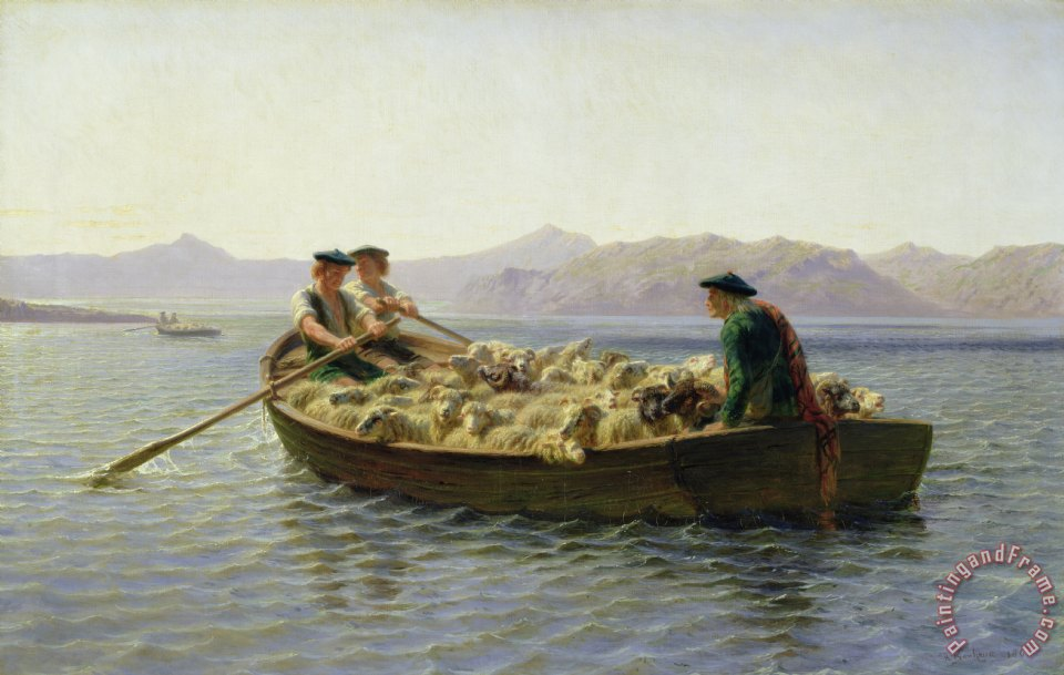 Rosa Bonheur Rowing Boat painting - Rowing Boat print for sale