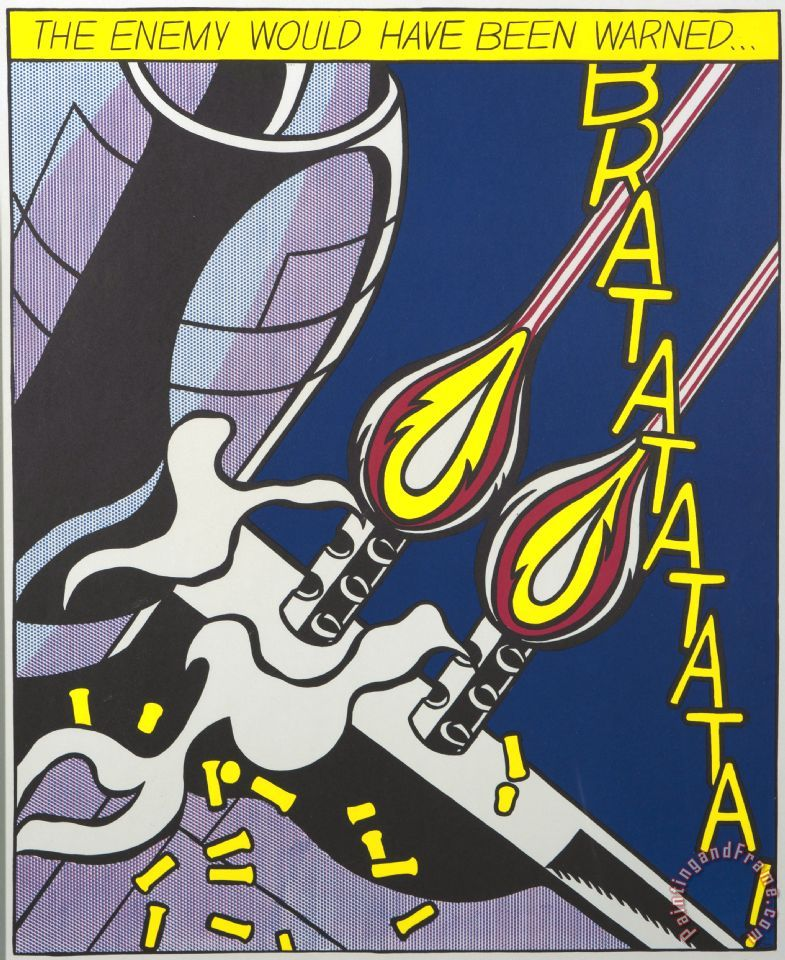 As I Opened Fire painting - Roy Lichtenstein As I Opened Fire Art Print