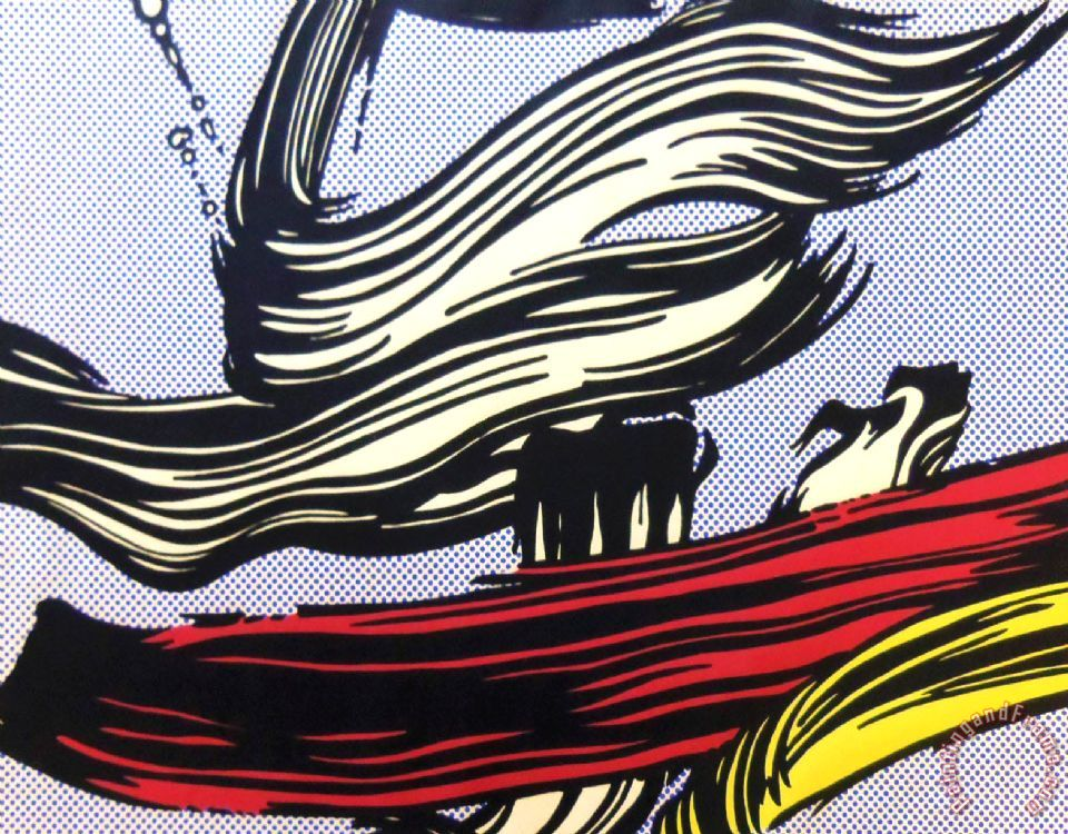 Roy Lichtenstein Brushstroke Art Print