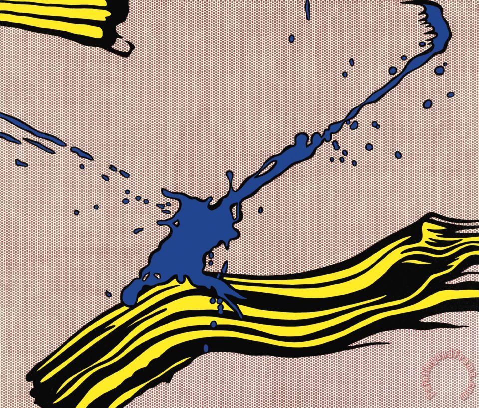 Brushstroke with Spatter 1966 painting - Roy Lichtenstein Brushstroke with Spatter 1966 Art Print