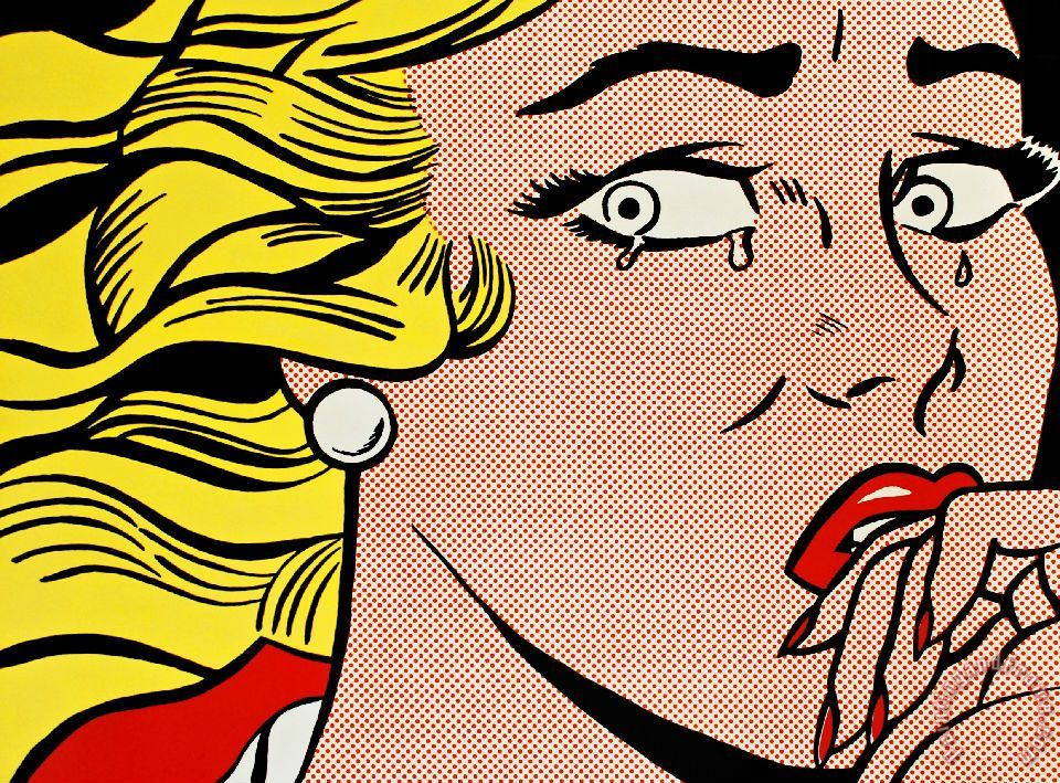 Crying Girl C 1963 painting - Roy Lichtenstein Crying Girl C 1963 Art Print