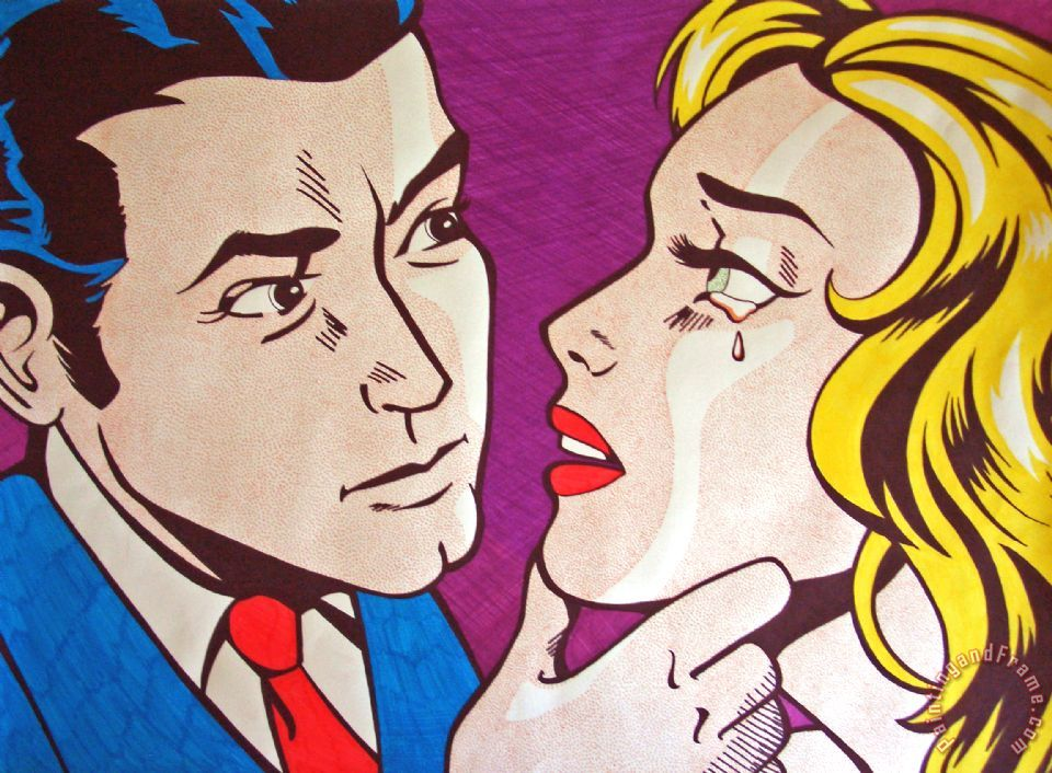 Emulation painting - Roy Lichtenstein Emulation Art Print