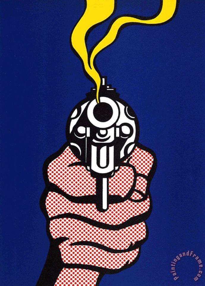 Roy Lichtenstein Gun Painting Gun Print For Sale