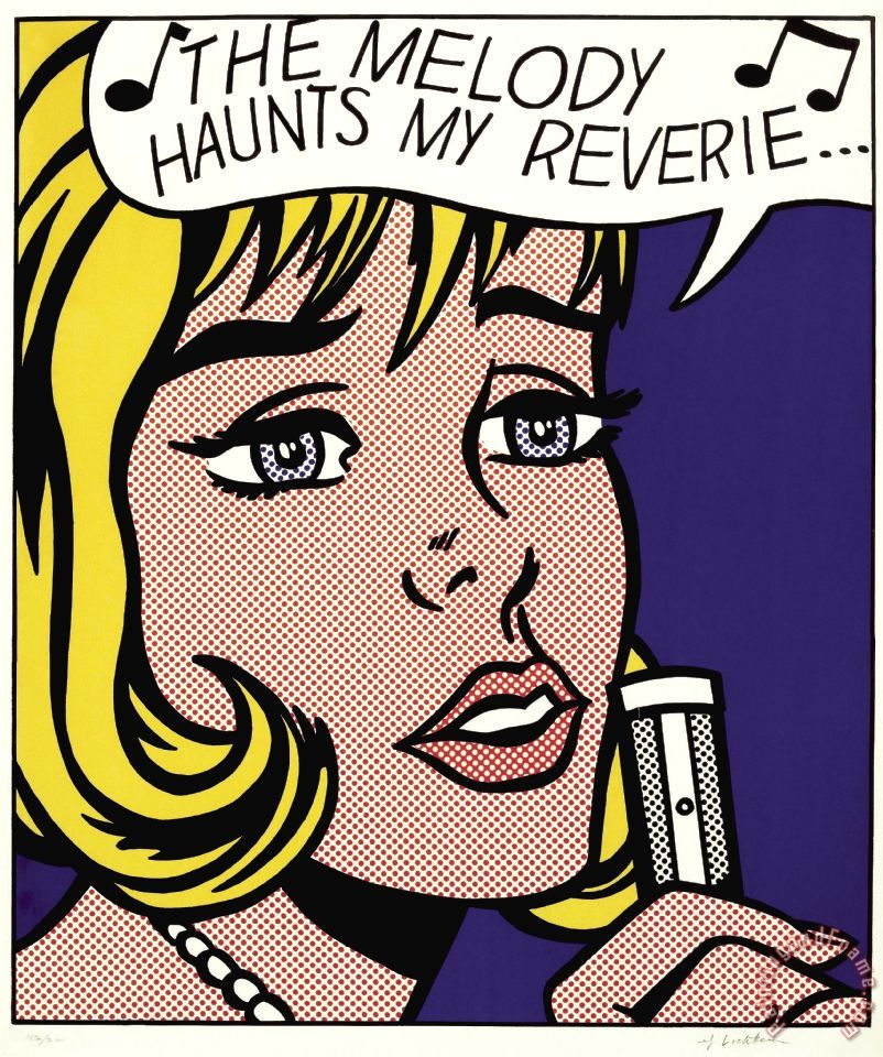 Roy Lichtenstein Reverie 1965 Art Print