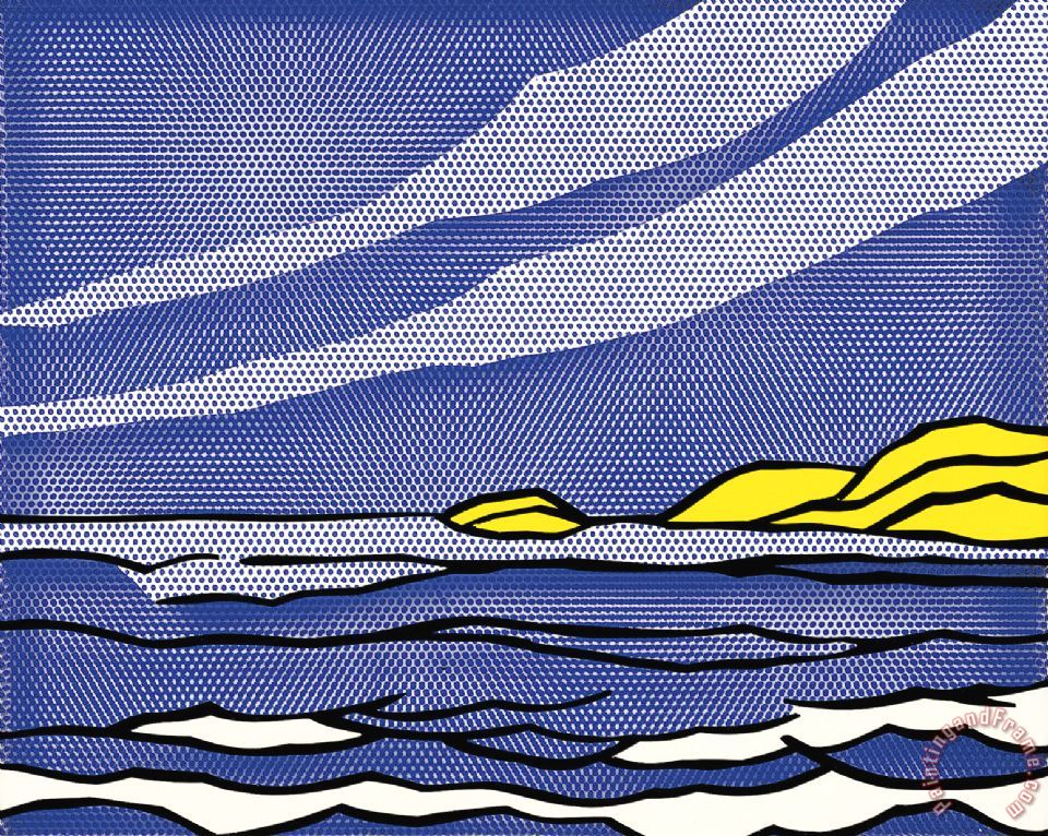 Roy Lichtenstein Sea Shore Art Print