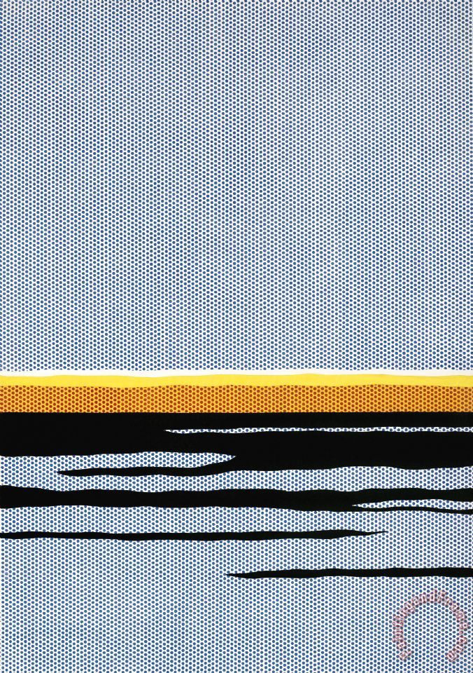 Roy Lichtenstein Seascape C.1965 Art Print