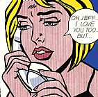 Oh Jeff I Love You Too But 1964 by Roy Lichtenstein