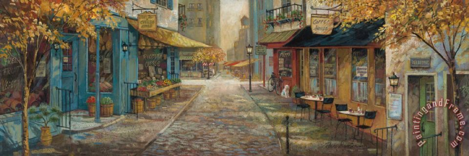 Ruane Manning Embracing City Charm Art Painting