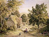 A Farmyard near Princes Risborough by Samuel Palmer