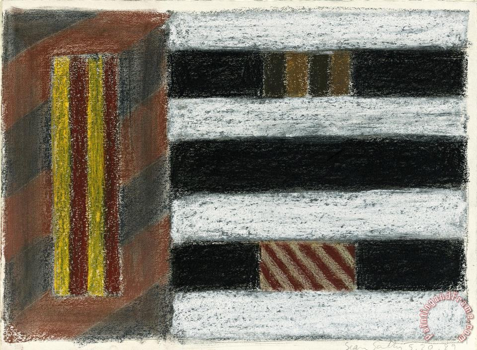 Untitled painting - Sean Scully Untitled Art Print