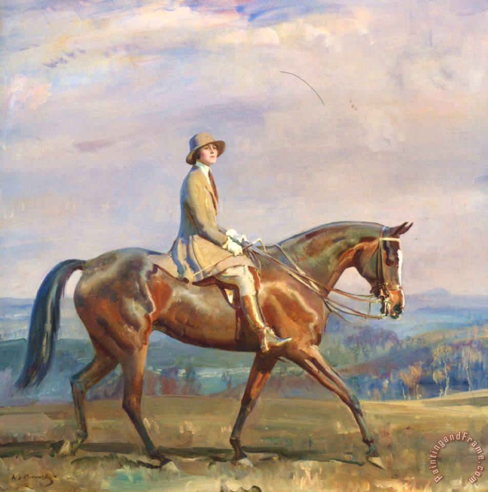 Sir Alfred James Munnings Portrait Of Mrs Margaretta Park