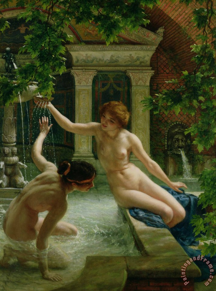 Water Babies painting - Sir Edward John Poynter Water Babies Art Print