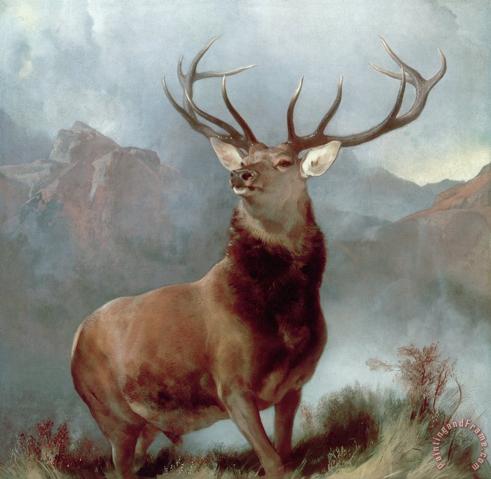 Monarch of the Glen painting - Sir Edwin Landseer Monarch of the Glen Art Print