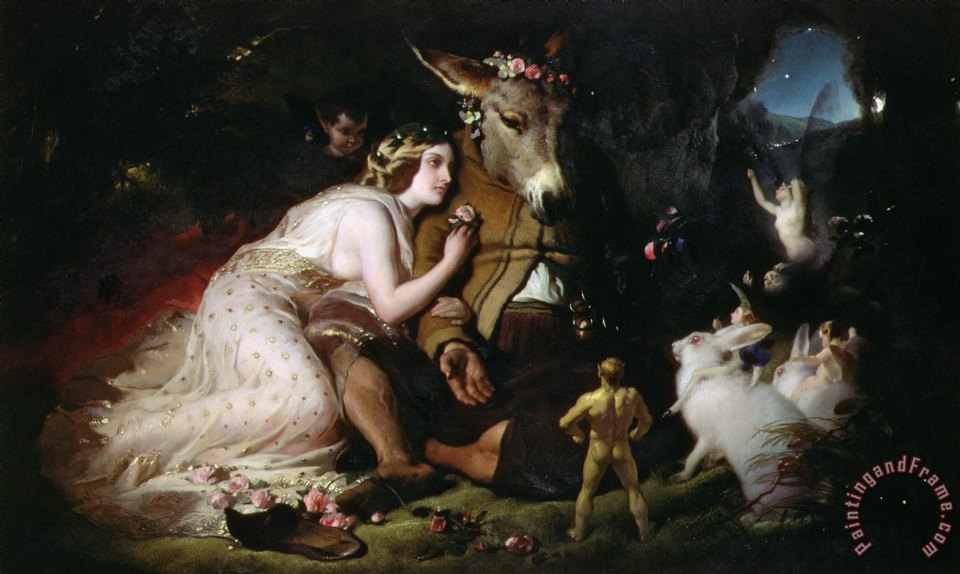 Scene from A Midsummer Night's Dream painting - Sir Edwin Landseer Scene from A Midsummer Night's Dream Art Print