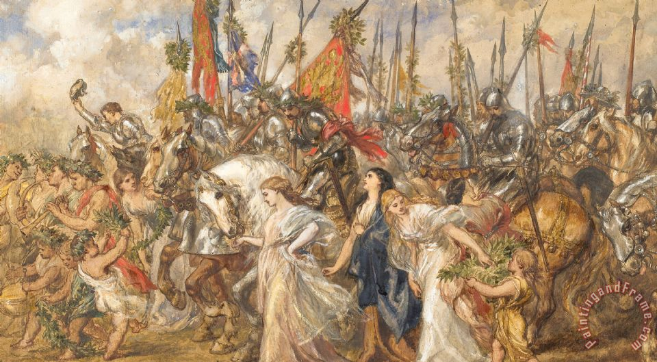 The Return Of The Victors painting - Sir John Gilbert The Return Of The Victors Art Print