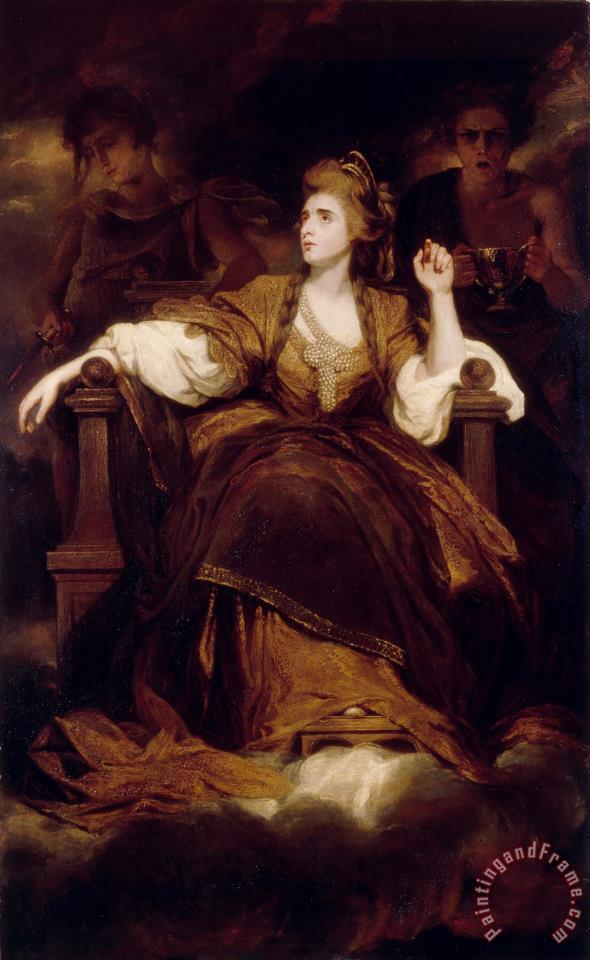 Mrs Siddons As The Tragic Muse painting - Sir Joshua Reynolds Mrs Siddons As The Tragic Muse Art Print