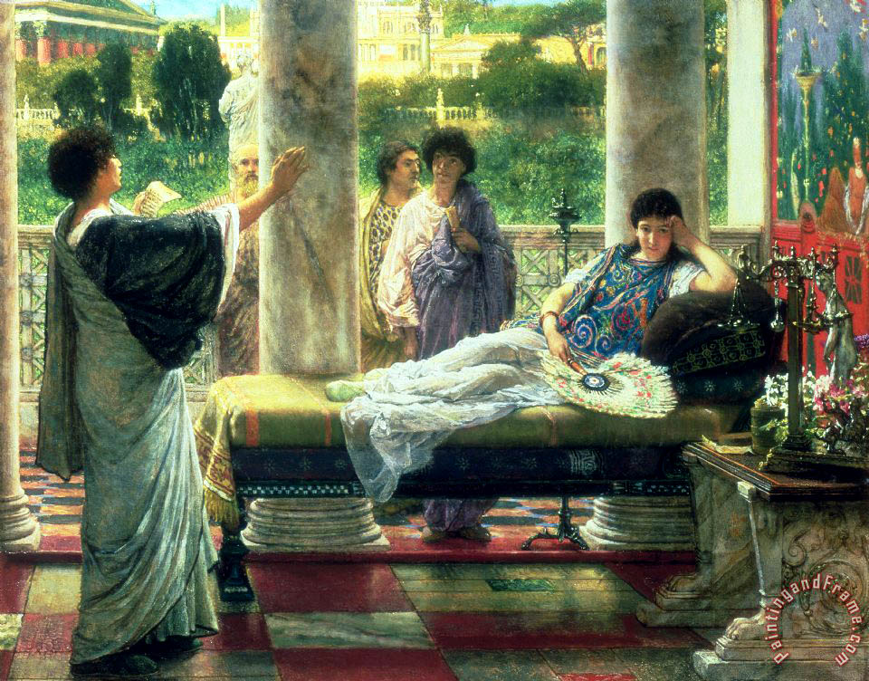 Sir Lawrence Alma-Tadema Catullus Reading his Poems Art Print