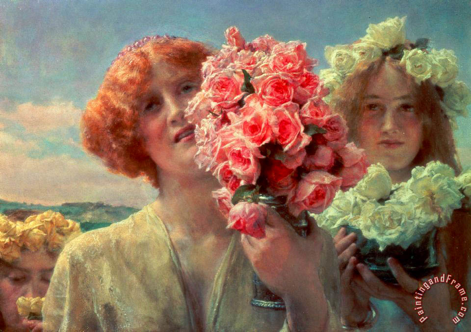 Summer Offering painting - Sir Lawrence Alma-Tadema Summer Offering Art Print
